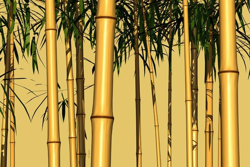 bambusstangen 03 romantische landschaftsbilder auf leinwand wellness bilder ebay. Black Bedroom Furniture Sets. Home Design Ideas