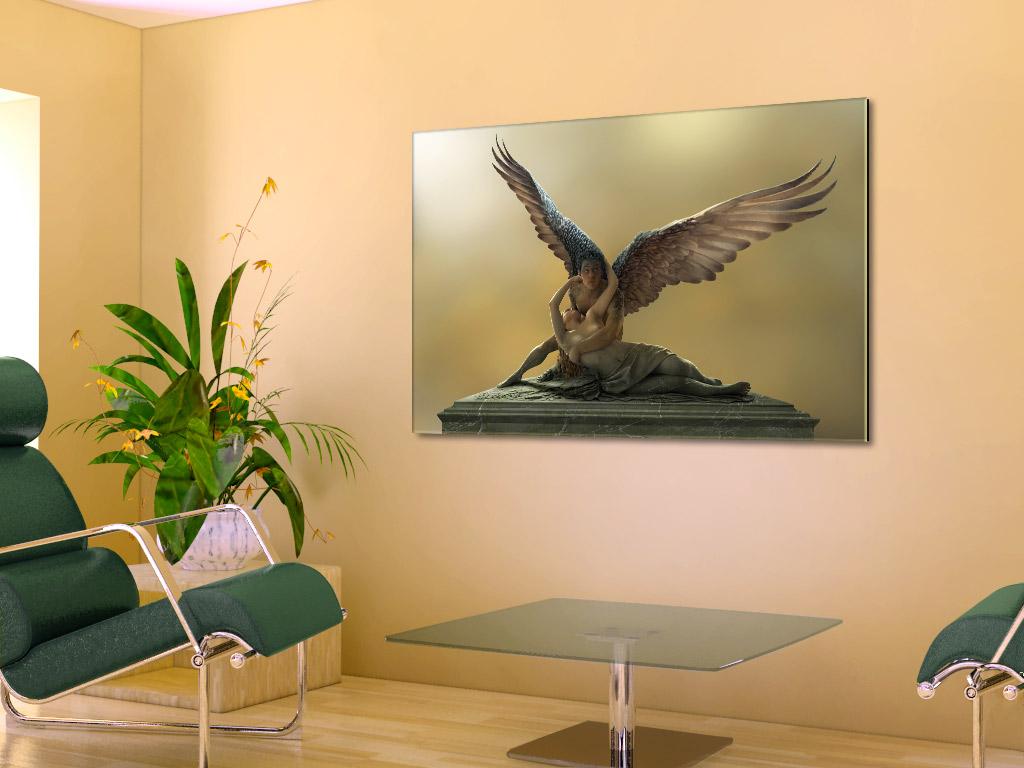 der dieb vom louvre acrylglas bild coole moderne fantasy kunst engel liebespaar ebay. Black Bedroom Furniture Sets. Home Design Ideas